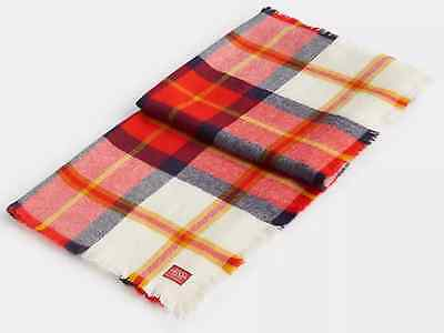 Joules Heyford Soft Oversized Soft Woven Scarf in Red Check, One Size BNWT