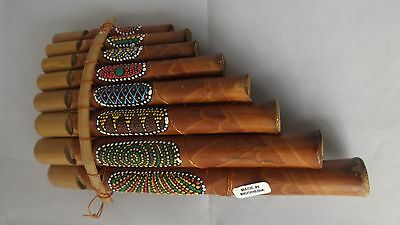 Bamboo Handcrafted Pan Pipes - 8 Pipes Medium Size