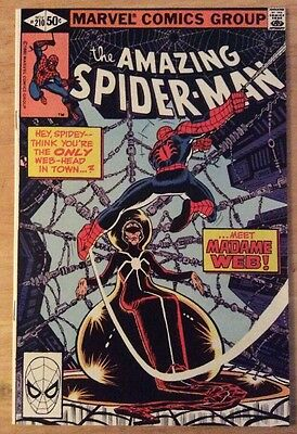 Amazing Spider-man #210 Marvel FN 1st Appearance of Madame Web
