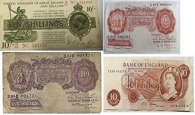 English Ten Shilling Bank Notes Select Your Note And Cashier