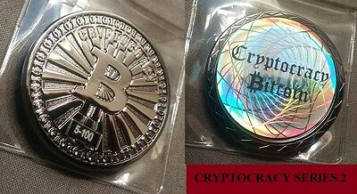 Cryptocracy Series 2 physical bit coin - black nickel limited to 100 (casascius)