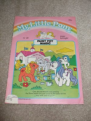 Rare and Hard to Find Vintage My Little Pony Comic No.28 1986