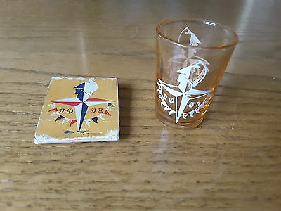 Vintage Festival Of Britain Shot Glass And Matches