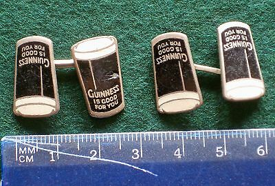 """""""Guiness is Good For You"""" Cuff Links"""