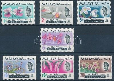Malaysian States stamp Selangor Orchids set MNH 1965 Mi 98-104 Orchids WS223576