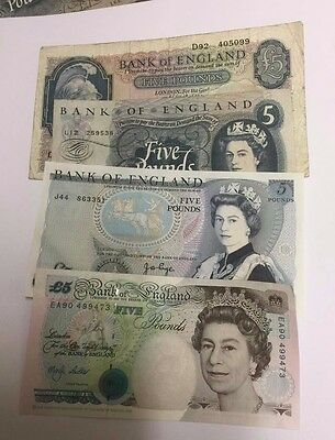 English Five Pound Bank Notes Select Your Note And Cashier