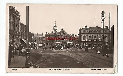 Staffs Walsall The Bridge 1909 Real Photo Vintage Postcard 15.11