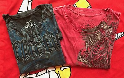 Pair Of Genuine Rare Affliction T-Shirts Size Xl/xxl