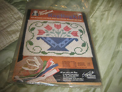Original Rugpoint Rag Rug Kit Floral Basket Factory Sealed