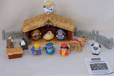 2002 Fisher Price Little People Deluxe Christmas Story Nativity Lights & Music