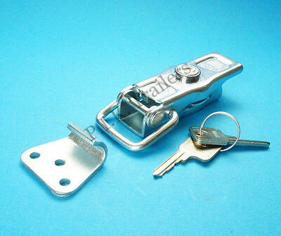FREE P&P* 1 x Locking Over Centre Catch & Latch Plate & 2 Keys - Trailer #81304
