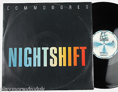 """COMMODORES Nightshift 12"""" UK 1984 Motown TMGT1371  plays NM!"""