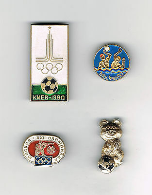 Russian MOSCOW 1980 OLYMPIC GAMES pin badges (USSR/Soviet Union/Sports)