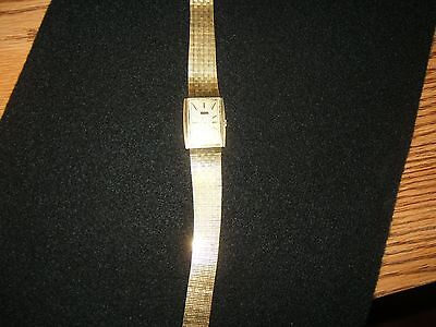 Elgin Mens Wrist Watch Vintage Gold Plated Made in France Hand Wind
