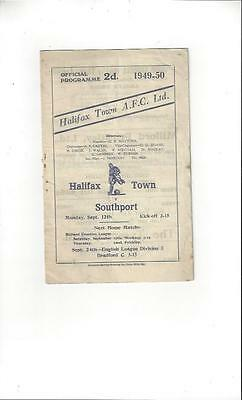 Halifax Town v Southport Football Programme 1949/50