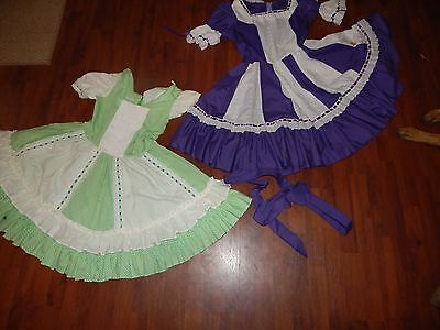 Vintage Square Dance Western Country Swing Polka Handmade Dress Gingham Eyelet