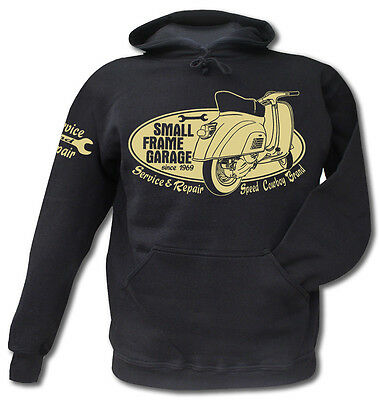 Hoodie Kapuzensweater Small Frame Roller Scooter Vespa 50er Motorroller Piaggio