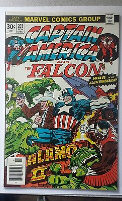 Captain America and The Falcon. Marvel Comics. Lot of 3 Issues #'s 203,204,215