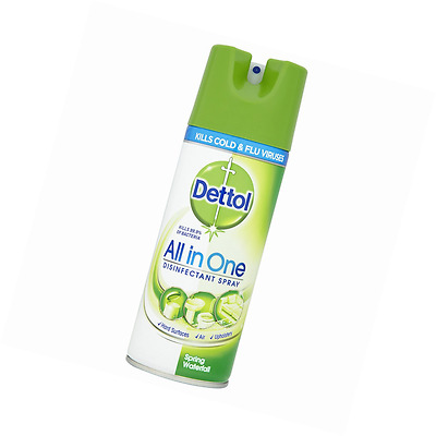 Dettol All in One Disinfectant Spray, 400 ml - Spring Waterfall, Pack of 3