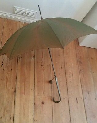 "*VINTAGE LADIES ""Kendall"" parasol olive green with  perspex HANDLE*"