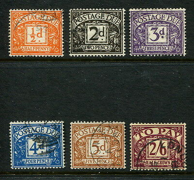 GB GREAT BRITAIN TUDOR sg d40-d45 POSTAGE  DUES F/USED SET