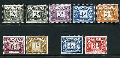 GB GREAT BRITAIN sg d69-d74 d75-d76 POSTAGE DUES 2 X SETS UNMOUNTED MINT