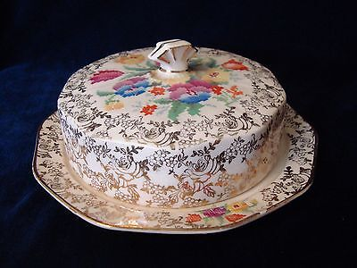 A Vintage 'holkirk' Chintz Butter, Muffin Dish.