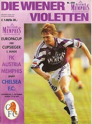 AUSTRIA VIENNA v Chelsea (Cup Winners Cup) 1994/5
