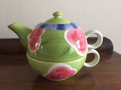 Premier Housewares Hand finished Ceramic TEA for ONE Set Teapot & Cup + Box