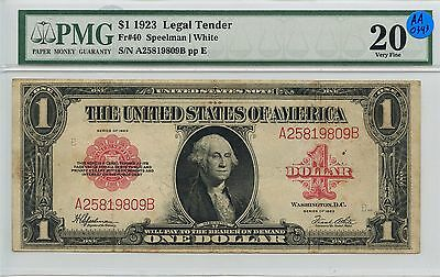 $1 Dollar 1923 Legal Tender US PMG Certified Very Fine 20 Large Size Note AA0343