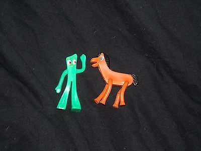 "Gumby and Pokey Set Prema Toy Bendables Miniature 2.5"" Lot Horse"