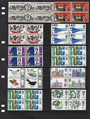 Collection of mint nbh blocks of QE11 stamps