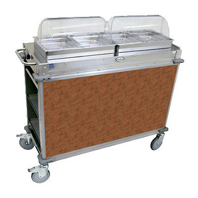 """Cadco CBC-HH-L1-4 Electric MobileServ Hot Food Buffet Cart with 4""""D Steam Pans"""