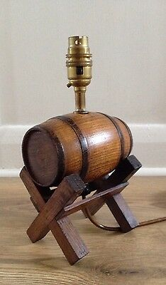 Vintage, rustic style, wooden, barrel lamp