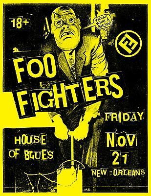 Foo Fighters House Of Blues New Orleans 2014 Promo Tour Poster