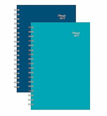 Mead Weekly / Monthly Planner / Appointment Book 2017, 3-3/4 x 6-3/4, Color For