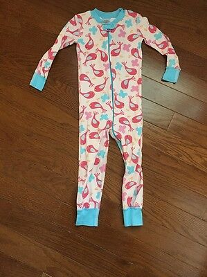 Girls Hanna Andersson Size 90 Or 3T Zip Up Pajamas