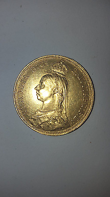 1887 Queen Victoria Gold Double Sovereign Two pounds