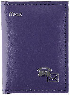 Mead Telephone Address Book, Mini, 4 x 3-Inches, Vinyl, Assorted Color Selected