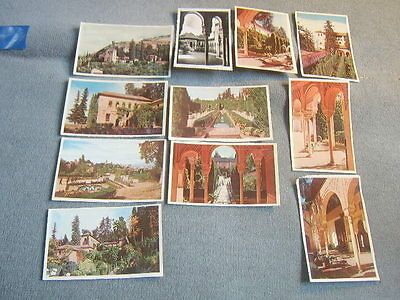 Eleven unused 1950s postcards of Granada, Spain