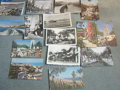 Postcards 1950s Tangier, Algeciras and desert scene