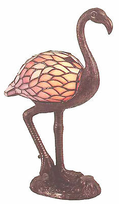 Light Stained Art Pink Flamingo Lamp
