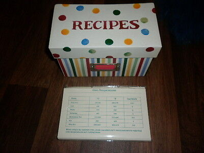 Emma Bridgewater Spots + Stripes Recipe Box + Blank Cards Set