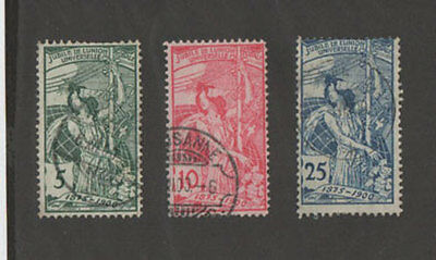 Switzerland 1900, 3 old used Stamps