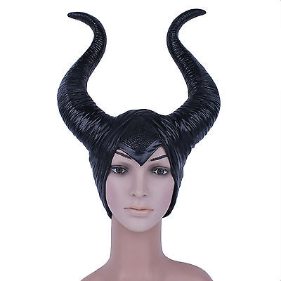 Maleficent Horn Black Hat Women Halloween Cosplay Party Costume Accessory Gift