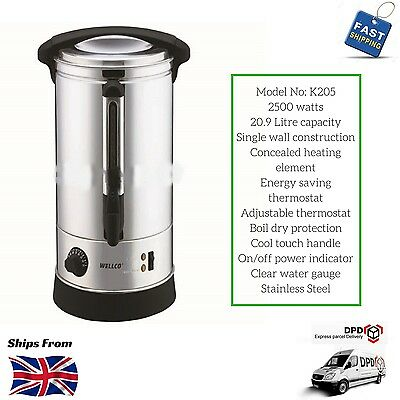 Hot Water Urn 20.9 Litre Catering Cafe Restaurant 20.9L 2500W