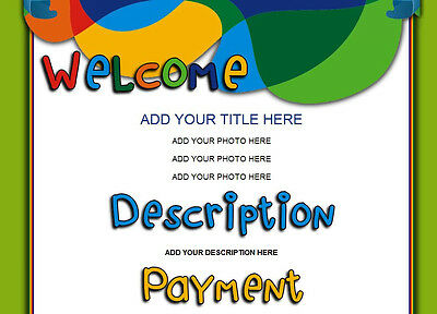 BRAZILLIAN eBay Listing Auction Template COLORFUL