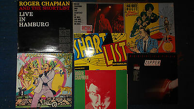 8 LPs ROGER CHAPMAN & SHORTLIST - Live Hamburg, He was She was, Mailorder LESEN