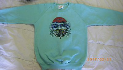 Sweat Shirt Youth M Medium Green 1989 Hells Angels Event Angel Acres Motorcycle