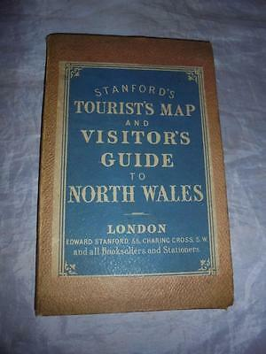 1882 Edward Stanford Tourist's Map Of North Wales With View Of Menai Bridge